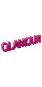 Lettres Glamour Fuschia pailleté
