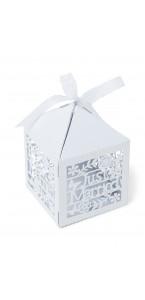 Llot de 20 boîtes pour dragées Just Married 5 x 7,5 cm