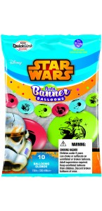 Lot de 10 ballons double attache Star Wars en latex 30 cm