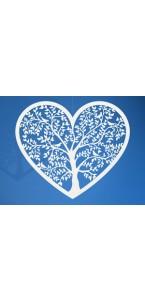 Lot de 10 décorations cœur blanc 13,5 x 11 ,5 cm