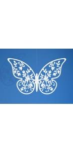 Lot de 10 décorations papillon blanc dentelle fleur 6,5 x 4 cm
