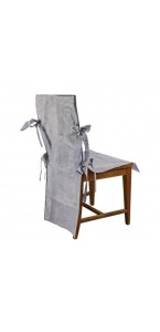 Lot de 10 housses de chaise gris foncé