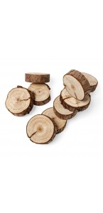 Lot de 10 rondins bois naturel 5 cm