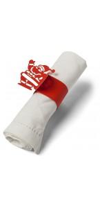 Lot de 10 ronds de serviettes Père Noël 23 x 6 cm