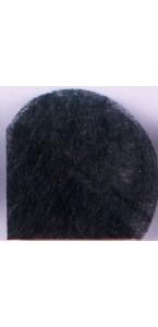 Lot de 10 ronds de tulle ver à soie noir