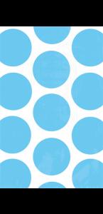 Lot de 10 sachets transparent à pois bleu