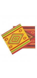 Lot de 10 serviettes jetables Mexique 33 x 33 cm
