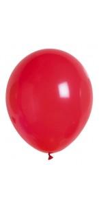 Lot de 100 ballons en latex opaque rouge