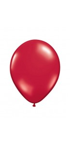 Lot de 100 mini-ballons de baudruche en latex nacré rouge