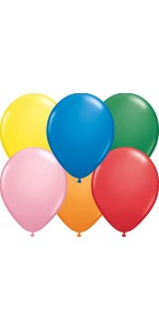 Lot de 100 mini ballons multicolores