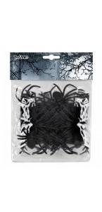 Lot de 12 araignées noires halloween en plastique 7x 8cm