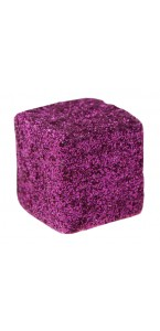 Lot de 12 cubes fuschia pailletés