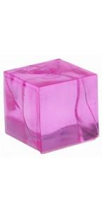 Lot de 12 cubes fuschia transparents