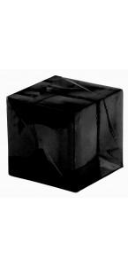 Lot de 12 cubes noirs transparents