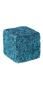 Lot de 12 cubes turquoise pailletés