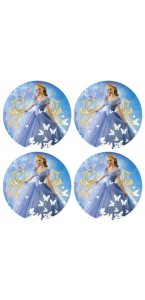 Lot de 12 mini disques Azyme Cendrillon 4,5 cm
