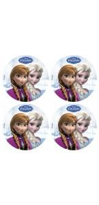 Lot de 12 mini disques déco azyme Reine des neiges 4,5 cm