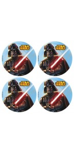 Lot de 12 mini disques déco azyme Star Wars 4,5 cm
