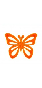 Lot de  12 papillons stickers orange