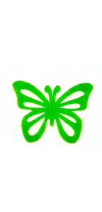 Lot de  12 papillons stickers vert tilleul