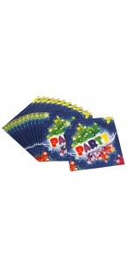 Lot de 12 serviettes jetables Party
