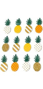 Lot de 12 Stickers Ananas 4,5 x 1,8 cm