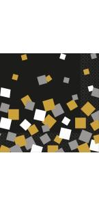 Lot de 16 serviettes jetables en papier Sparkling Confetti 33 x 33 cm