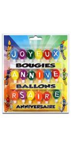 Lot de 18 Bougies ballons joyeux Anniversaire