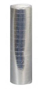 Lot de 18 serpentins argent métallisé de 4mx7mm