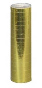 Lot de 18 serpentins or métallisé de 4mx7mm