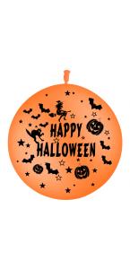Lot de 2 Ballons Happy Halloween en latex