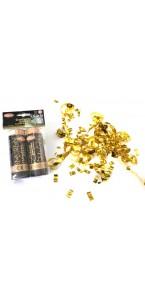 Lot de 2 canons à confettis or 11 cm