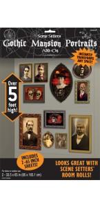 Lot de 2 décors posters portraits gothiques Halloween