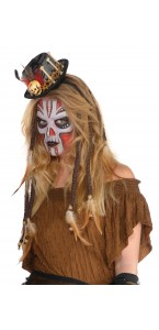 Lot de 2 extensions de cheveux Vaudou Witch Doctor Halloween