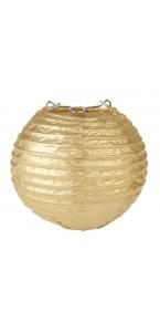 Lot de 2 lanternes chinoises en papier or 10 cm