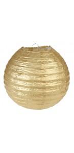 Lot de 2 lanternes  chinoises en papier or 20 cm