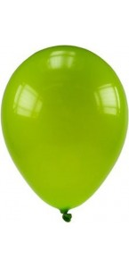 Lot de 20 ballons de baudruche en latex opaque tilleul