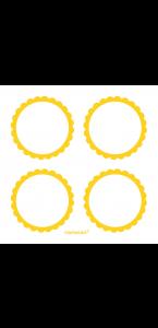 Lot de 20 Etiquettes Candy buffet jaune