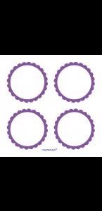 Lot de 20 Etiquettes Candy buffet violette
