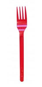 Lot de 20 fourchettes en plastique rouge