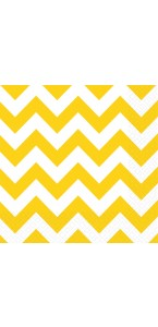 Lot de 20 serviettes Chevron jaune 33 x 33 cm