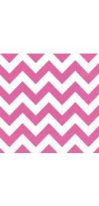 Lot de 20 serviettes Chevron rose 33 x 33 cm