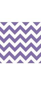 Lot de 20 serviettes Chevron violet 33 x 33 cm