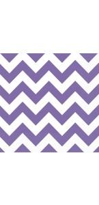 Lot de 20 serviettes Chevron violet 33 x 33 cm
