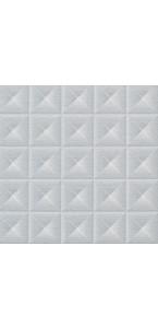 Lot de 20 serviettes Diamants argent intissé 40 x 40 cm