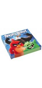 Lot de 20 serviettes en papier Angry birds 33 x 33 cm