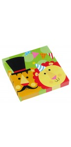 Lot de 20 serviettes Fischer Price  Circus 33 x 33 cm