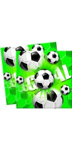 Lot de 20 serviettes Football 33x33 cm