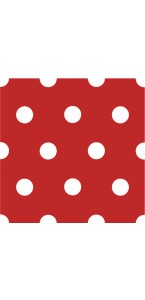 Lot de 20 serviettes intissé rouge à pois 40 x 40 cm