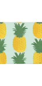 serviette ananas vert et bleu